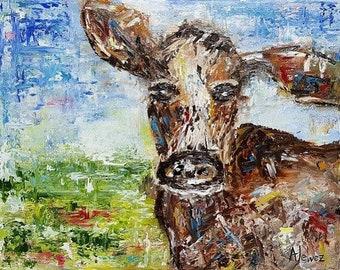 Cow print Cow art Animal print Cow décor Farm cow Animal art Cow fine art print Cow nursery art Funny cow Farm animal print Farm decor Cow