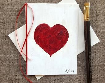 Love card Hand made greeting card Birthday card hand made Hand painted card Art card Original oil painting card Valentine card Original art