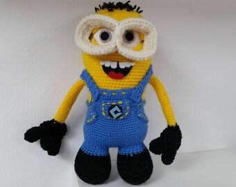 Crochet ugly doll etsy minion crochet dolls kevin dolls knitted minion knitted dolls soft toy crochet gift crochet minion crochet minion ccuart Choice Image