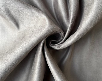 """Grey Suede Fabric 