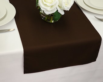 Merveilleux Chocolate Brown Table Runner Polyester | Wedding Table Runners