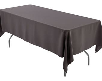 60 X 126 Inch Rectangular Charcoal Gray Tablecloth Polyester | Wedding  Tablecloth