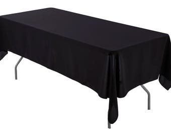 60 X 102 Inch Rectangular Black Tablecloth Polyester | Wedding Tablecloth