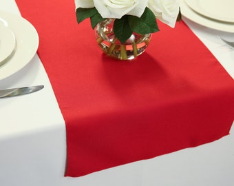 Charmant Red Polyester Table Runner   Wedding Table Runners