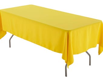 Quick View. 60 X 126 Inch Rectangular Yellow Tablecloth ...