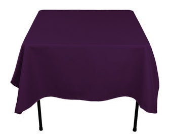 Superieur Rectangular Plum Tablecloth Polyester | Wedding Tablecloth | Choose Size