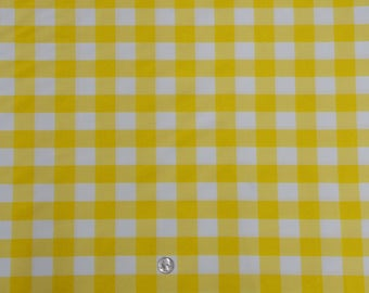 Ordinaire 60 X 126 Inch Rectangular Yellow And White Checkered Tablecloth Polyester |  Wedding Tablecloth