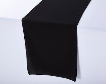 Black Table Runner Polyester | Wedding Table Runners