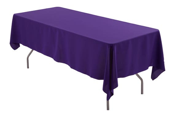 60 X 102 Rectangle Purple Tablecloth Polyester Wedding Tablecloth