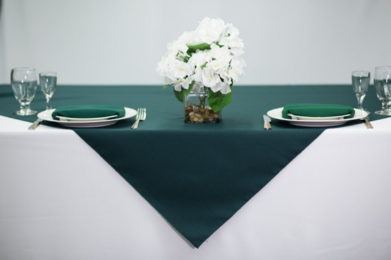 Wedding Table Overlay 54 inch Square Silver Tablecloth Polyester