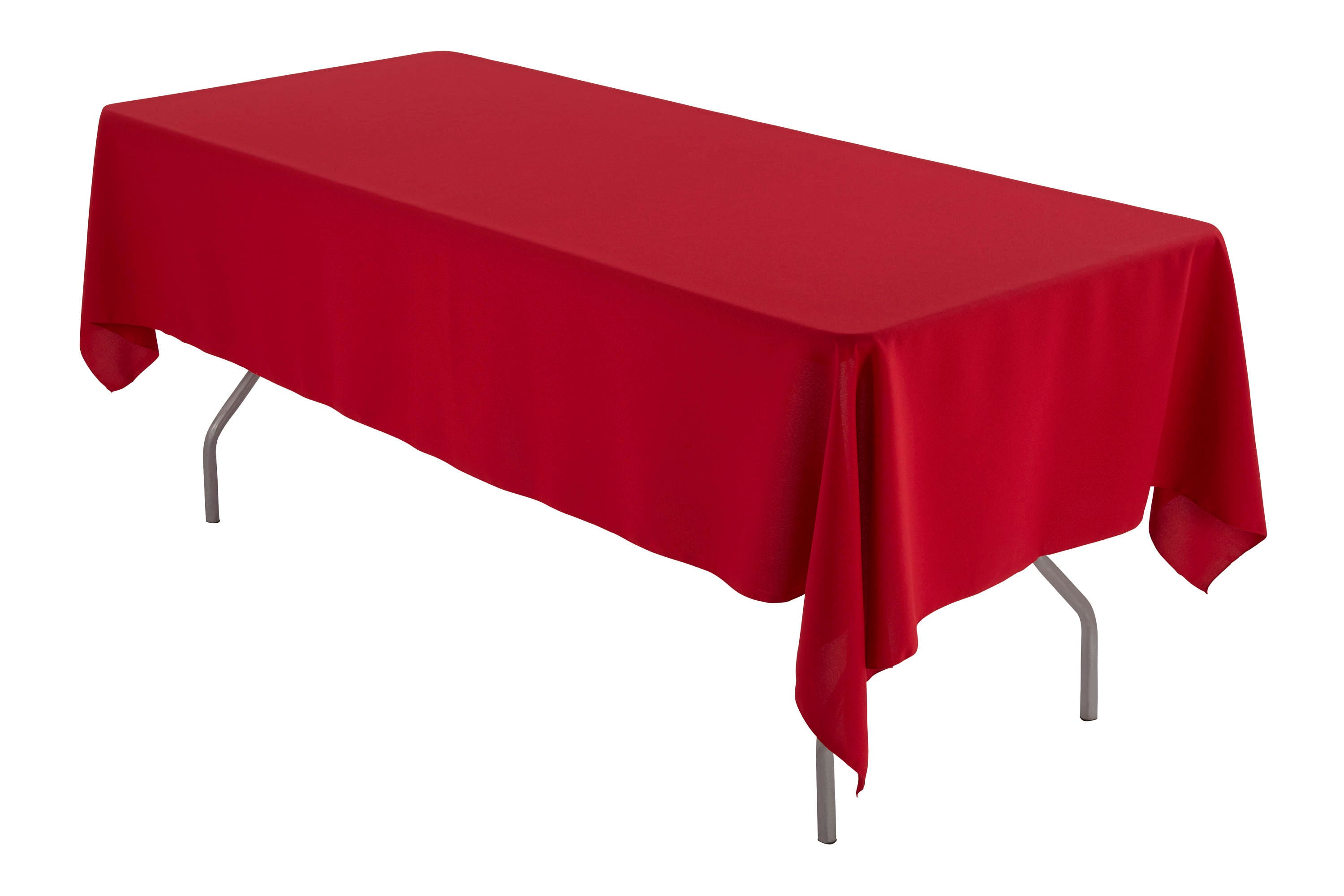 Exceptionnel 60 X 108 Rectangular Red Tablecloth Polyester | Etsy