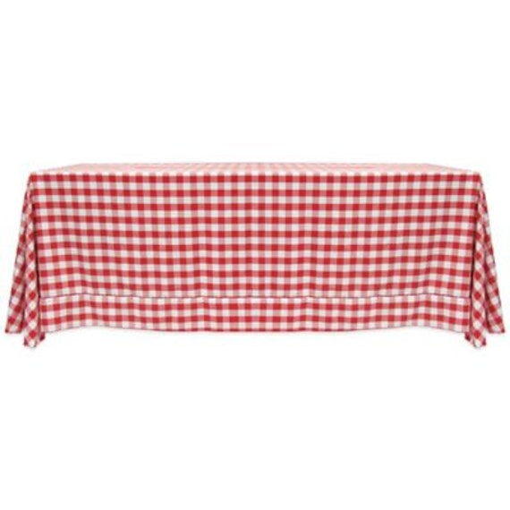 Fine 90 X 132 Rectangular Red And White Checkered Gingham Tablecloth Wedding Tablecloth Ncnpc Chair Design For Home Ncnpcorg