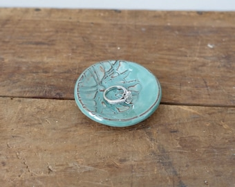 Mini Ring Dish, Jewelry Dish - Mint Green
