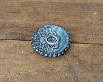 Mini Ring Dish, Jewelry Dish - Blue