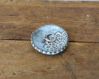 Mini Ring Dish, Jewelry Dish - Castile Blue