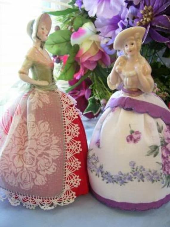Half Doll PATTERN using Old Linens or Hanky/'s, Pincushion