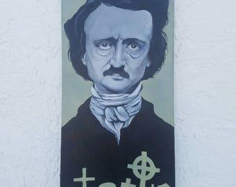 Edgar Allen Poe Graveyard Painting