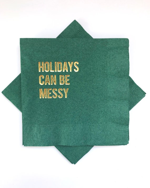 Funny christmas cocktail napkins