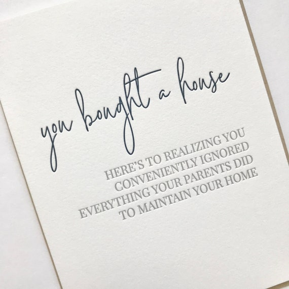 New House Congrats New Home Congratulations Card Funny New Etsy
