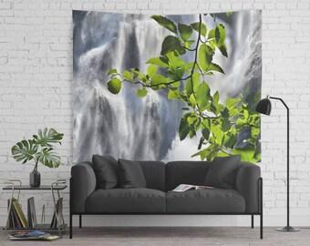 Wall Tapestry - Magic Water - Home, Wall, Decor, Modern, Warming Gift, Bohemian, Boho, Nature, Mist, Girl, Dorm, Gift, Waterfall, Scenery