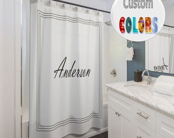 Custom Name And Color Shower Curtain