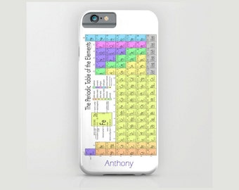Device case for iPhone / Samsung Galaxy, iPhone 7 /7s, iPhone 6 /6s, Samsung, Galaxy, Phone, Name, Custom, Periodic, Table, Gift, Chemistry