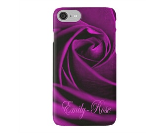 Purple Rose Device case for iPhone / Samsung Galaxy Phone, iPhone 6s, iPhone 6, Samsung, Galaxy, Phone, Rose, Flower, Floral, Nature, Purple