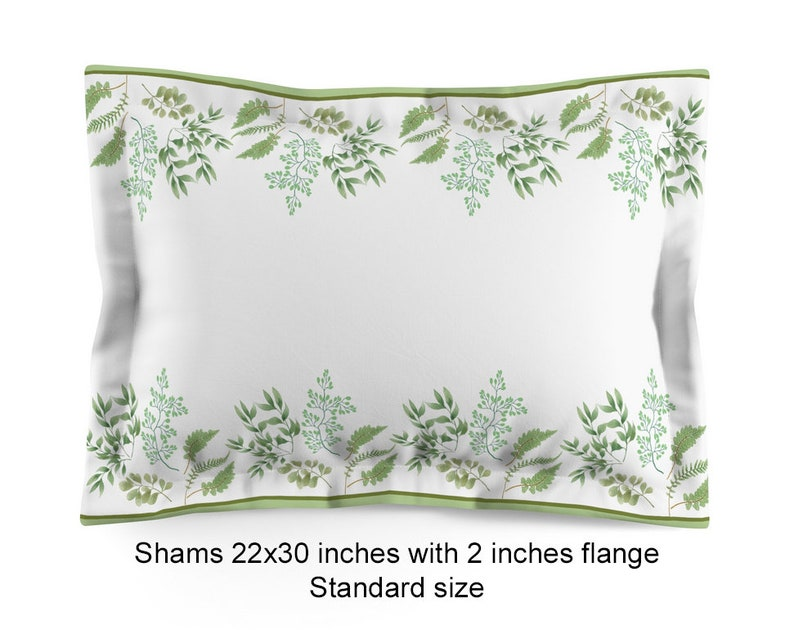 Envelope Closure Gift Single-sided print Fabric Polyester Add Pair of Shams to your order Any Design Poly-cotton