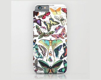 Custom Device case for iPhone 5/5s, iPhone 6/ 6s, iPhone 7/ 7s, Samsung, Galaxy, Phone, Butterfly, Nature, Gift, Christmas, Colorful, Old