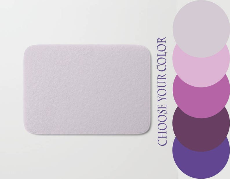 Peachy Solid Color Bath Mat Ultra Violet Deep Purple Lavender Blush Pink Light Orchid Custom Color Bathroom Boho Hippie Relax Gift Home Interior And Landscaping Ologienasavecom