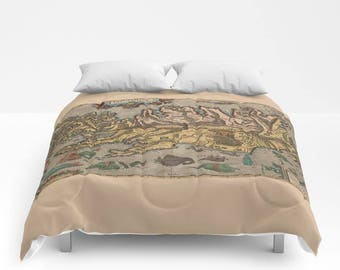 World map comforter etsy popular items for world map comforter gumiabroncs Choice Image