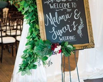 Wedding Welcome | A Chalkboard