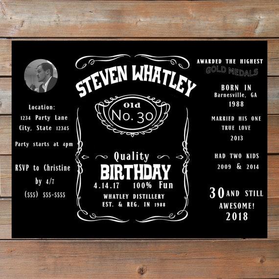 Jack Daniel S Birthday Invitation Printable And Etsy