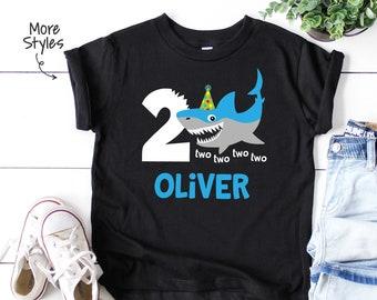 36b29cce2 Shark 2nd Birthday Shirt Custom Boys 2nd Birthday Shark 2nd Birthday Shirt  Shark Birthday Shark Themed Birthday Shirt Custom 2nd Birthday