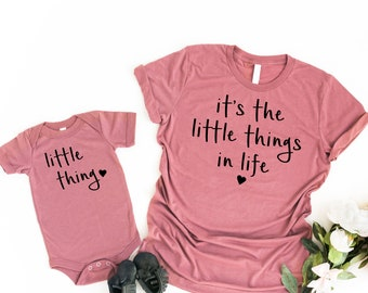 650a19151d Matching Its the Little Things in Life, Little Things Mommy & Me Shirt Baby  Shower Gift Matching Mommy and Me Outfits Mama Matching Shirt