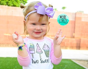 17669d59d47c Two Sweet Second Birthday Tops Girls  Two Sweet  Outfit