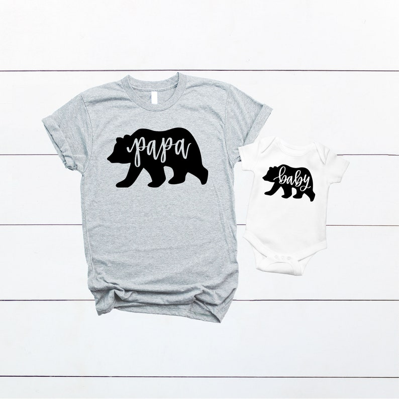 e77bcc89 Papa Bear and Baby Bear Daddy & Me Outfit Matching Daddy and | Etsy