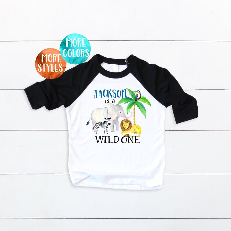 4bbd893fd Custom Wild ONE Boys First Birthday Toddler Wild ONE T Shirt | Etsy
