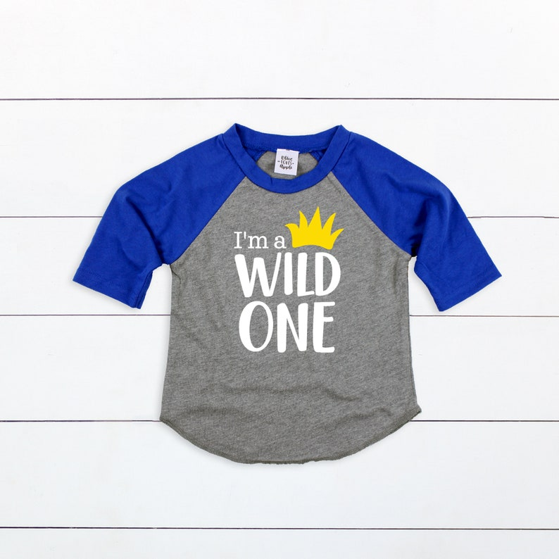IM A WILD ONE Boys 1st Birthday Shirt Wild One