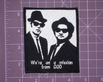 """Blues Brothers 4 Button Set 1.25"""" Mission From God Jake Always Loved IL Nazis"""
