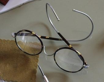 7720c223e07 Vintage round view glasses with tortoiseshell decor