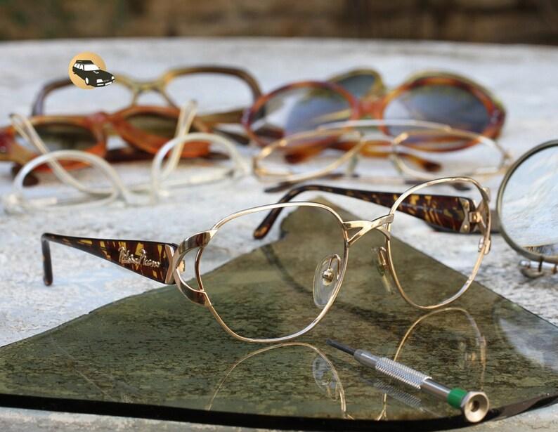 216c4bdca Woman OPTYL eyeglasses Paloma PICASSO large stainless steel gold Acetate  Tortoise Frame naked eyes luxury Paris fashion high Femme Fatale range  Fishscale ...