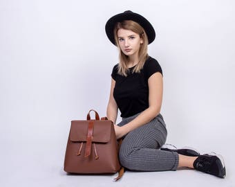 Leather backpack backpack leather rucksack leather bag laptop backpack brown backpack womens backpack backpack purse rucksack small backpack