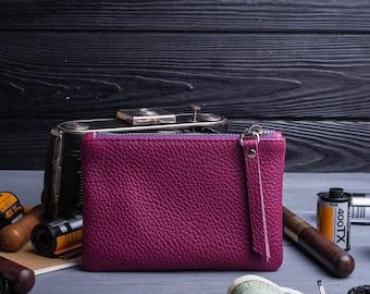 Coin purse leather purse change purse pouch leather wallet leather coin purse zipper pouch zipper coin purse coin pouch small purse wallet