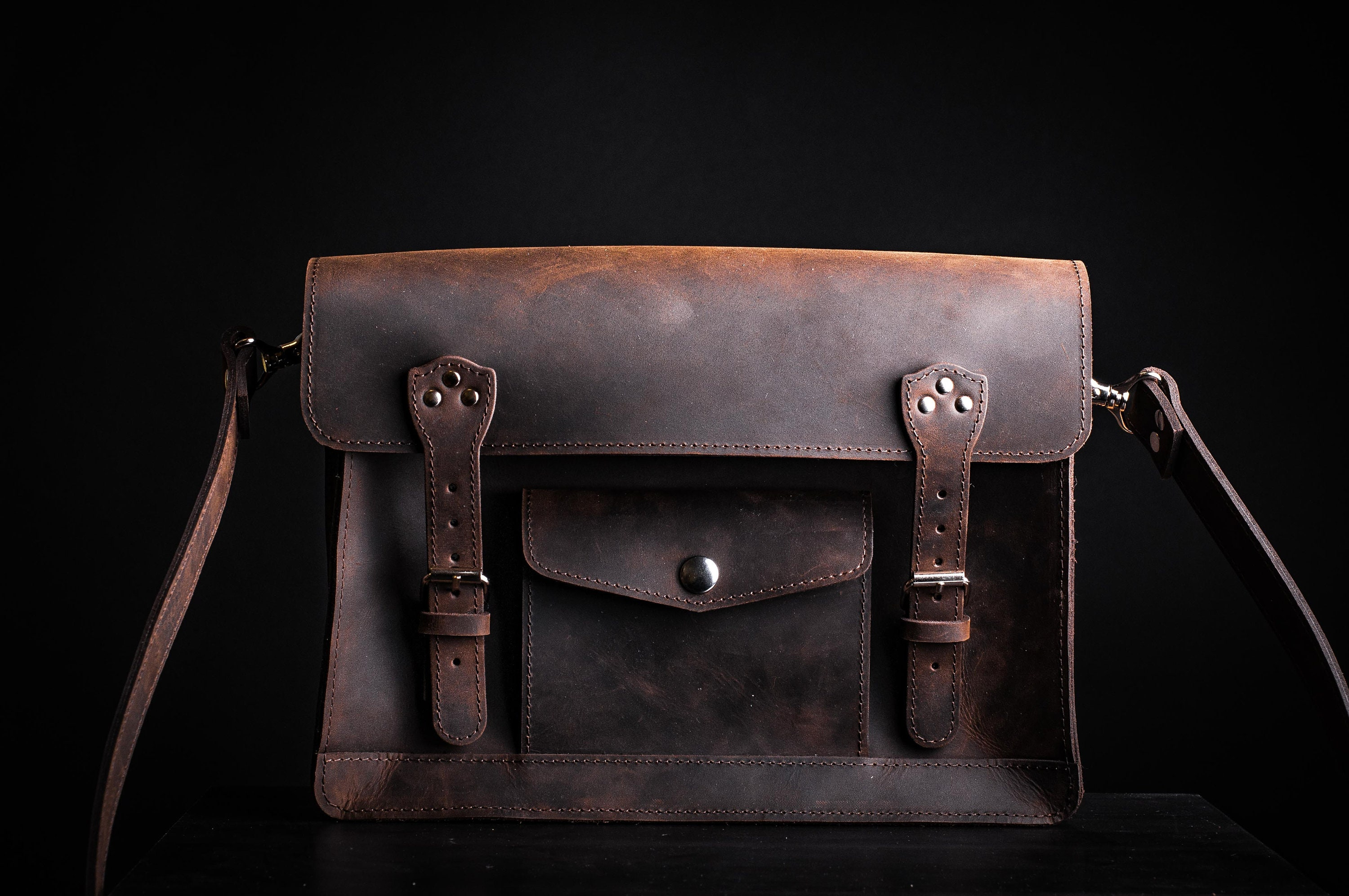 872739919b Leather purse leather satchel in brown color satchel bag