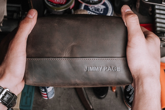 172910998a Dopp Kit-Groomsmen Gift-Personalized leather toiletry bag with