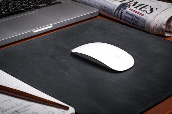Leather Desk Mat Office Desk Pad Black Leather Protective | Etsy