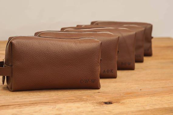 Groomsmen gift men s leather toiletry bag leather dopp kit   Etsy 5969f85446