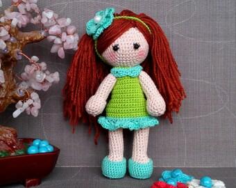 Gehäkelte Puppe, Spielzeug häkeln, stricken Puppe, Spielzeug stricken, hand stricken Puppe hin, hand gestricktes Spielzeug, kleine Puppe, weiche Puppe, Ausgestopfte Puppe, Stofftier, Stoffpuppe