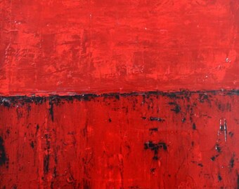 Original Red Acrylic Abstract Painting. Abstract Wall Hanging. Canvas Art. Home Wall Decor.